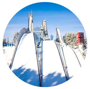 Lahti ski jump ramps.