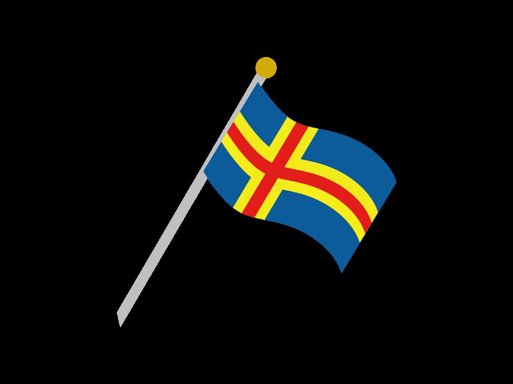 The flag of Åland