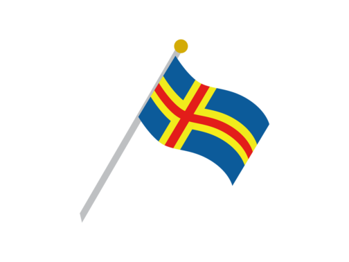 The flag of Åland
