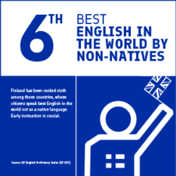 6th best English in the world by non-natives