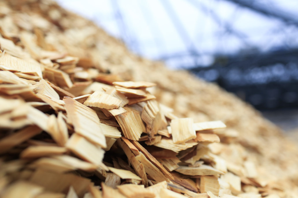 Wooden chips.