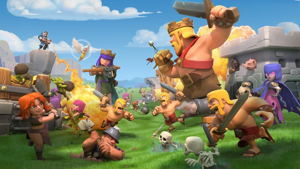 Animated picture of video game characters fighting.